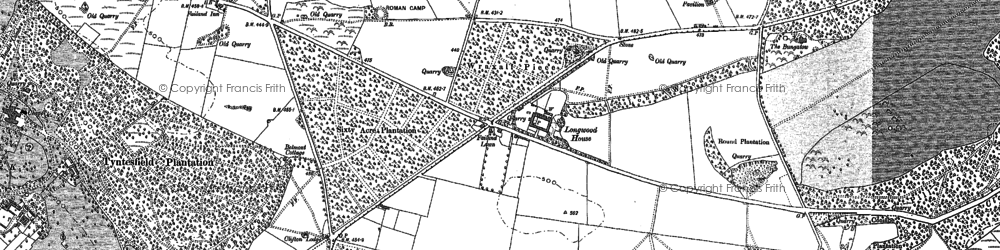 Old map of Ashton Hill Plantn in 1883