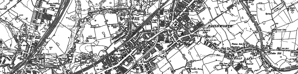 Old map of Daisy Nook in 1891