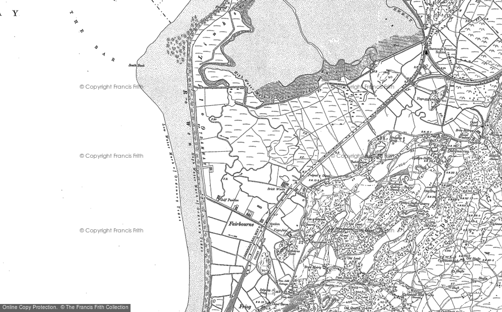 Old Map of Fairbourne, 1900 in 1900