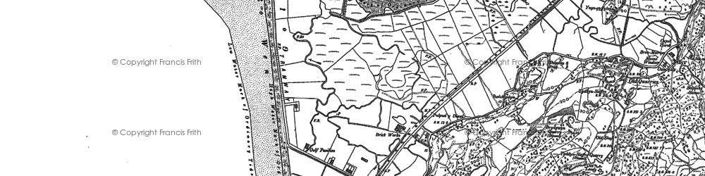 Old map of Fairbourne in 1900