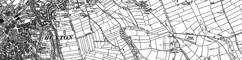 Old map of Woo Dale in 1879