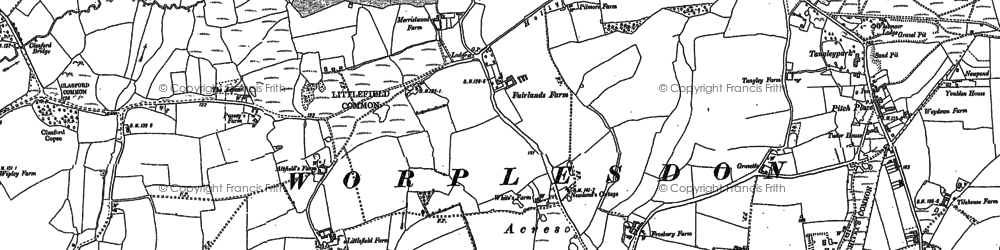 Old map of Whipley Manor in 1895