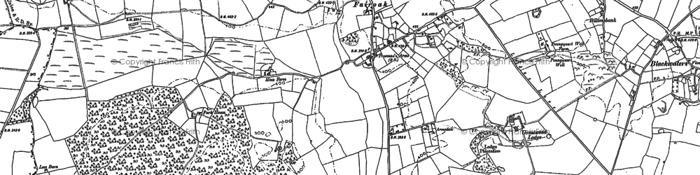 Old map of Armsdale in 1900