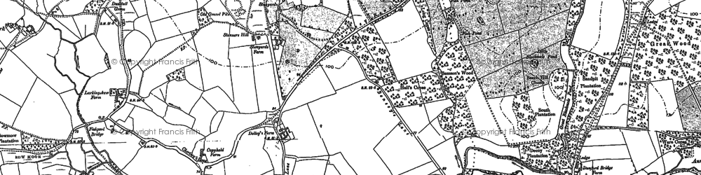 Old map of Larkenshaw in 1895