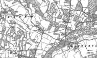 Old Map of Fairseat, 1895