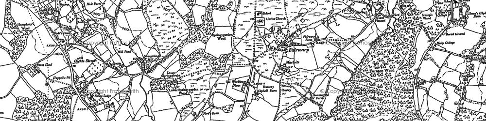 Old map of Fairwarp in 1897