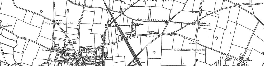 Old map of Fakenham in 1885