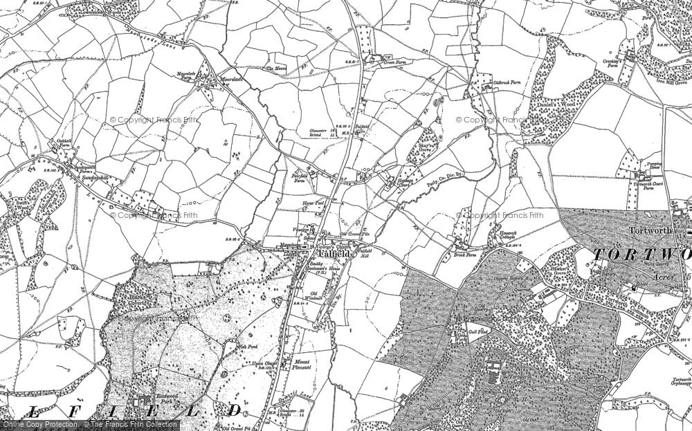 Old Map of Falfield, 1880 - 1881 in 1880