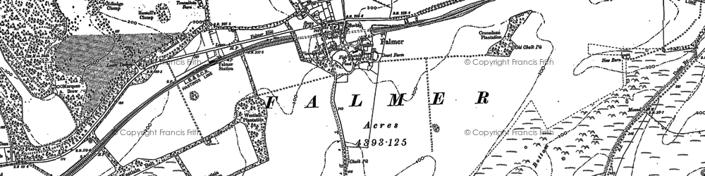 Old map of Balmer Down in 1897