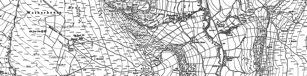 Old map of Wetherhouse Moor in 1890