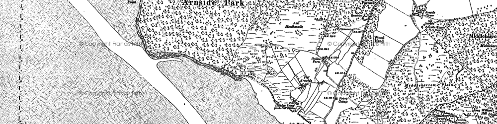 Old map of White Creek in 1911