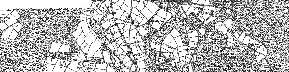 Old map of Wyre Common in 1902