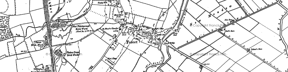 Old map of Farcet in 1887