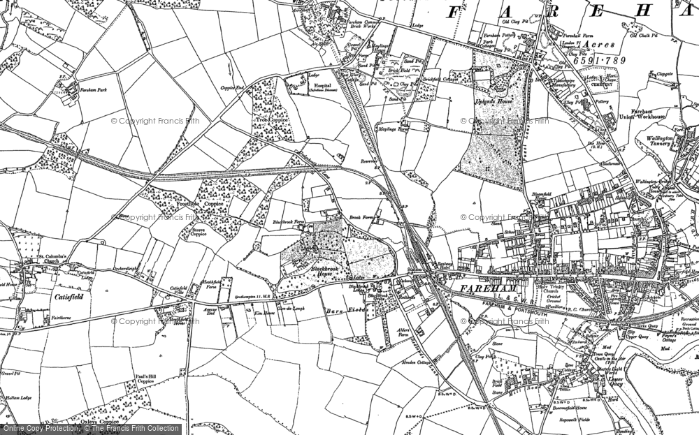 Map of Fareham, 1895