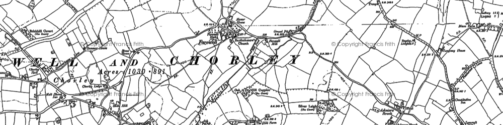 Old map of Abnalls, The in 1902