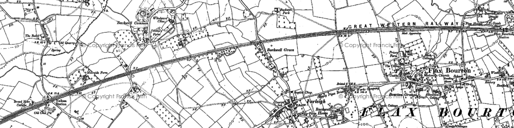 Old map of Farleigh in 1883