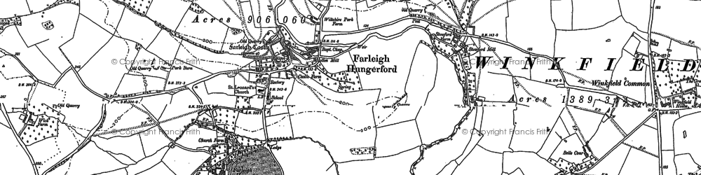 Old map of Farleigh Hungerford in 1902