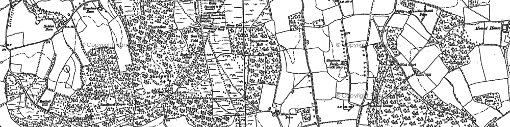 Old map of Farley Green in 1895