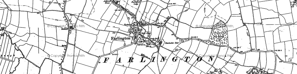 Old map of Woodside in 1888