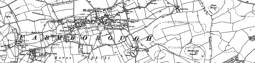 Old map of Barrow Vale in 1882