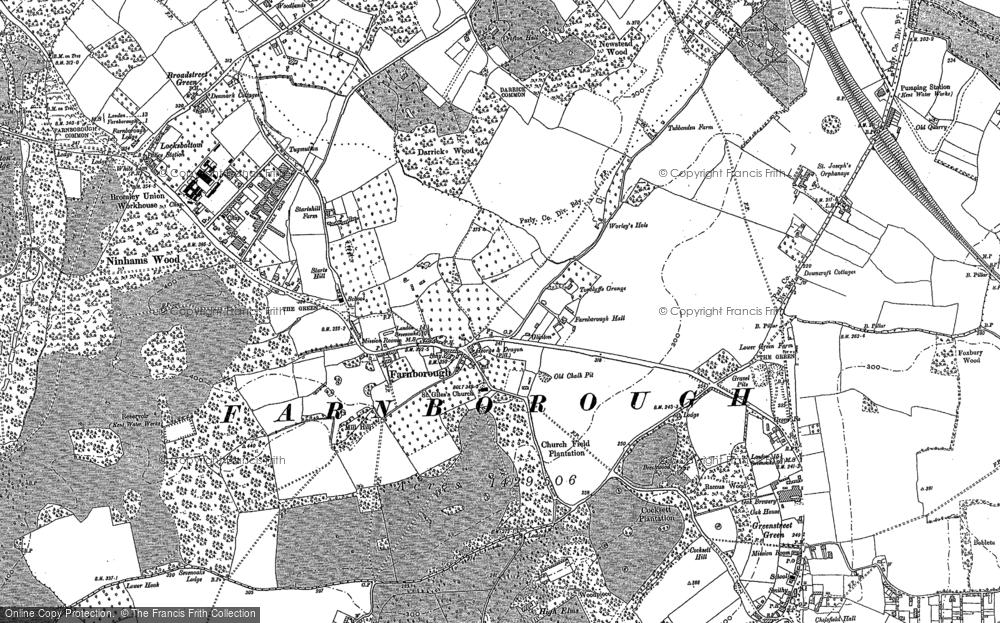 Old Map of Farnborough, 1895 in 1895