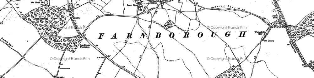 Old map of Yew Down in 1898