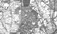 Old Map of Farnborough, 1909