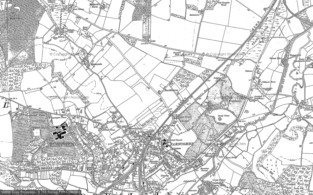 Old Map of Farncombe, 1895 in 1895