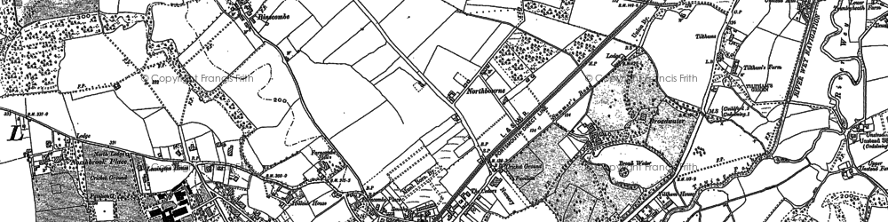 Old map of Farncombe in 1895