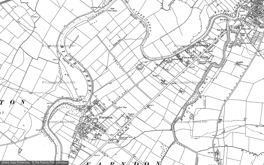 Fosse Way Map Old Maps of Fosse Way (Roman Road)   Francis Frith