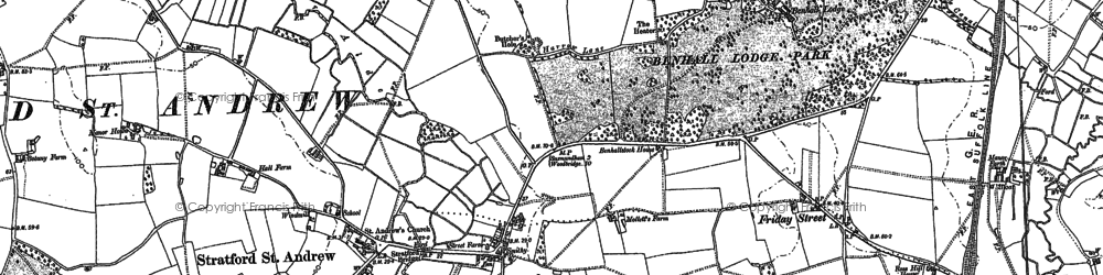 Old map of Langham Br in 1882