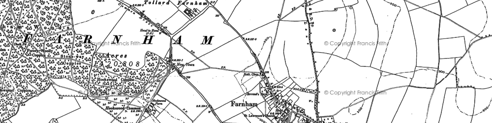 Old map of Larmer Tree Gdns in 1886