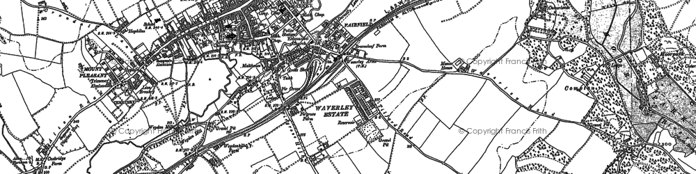 Old map of Farnham in 1913