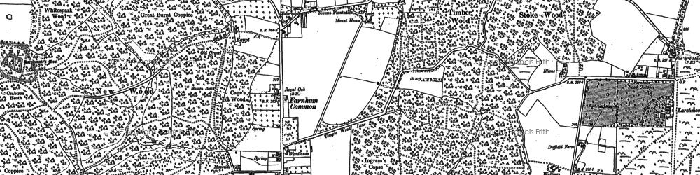 Old map of Farnham Common in 1897