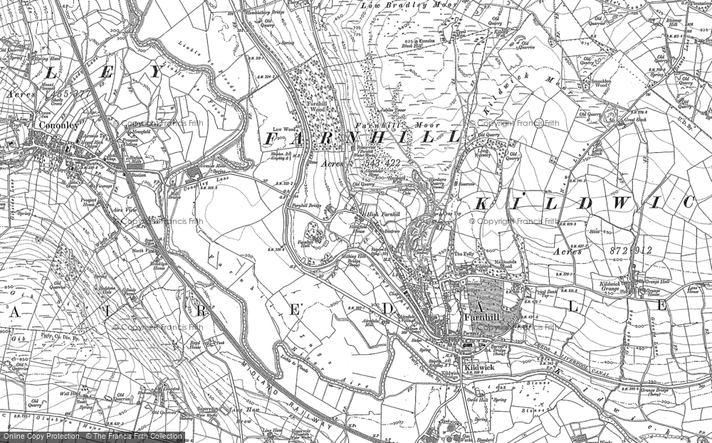 Old Map of Historic Map covering Aire View in 1889