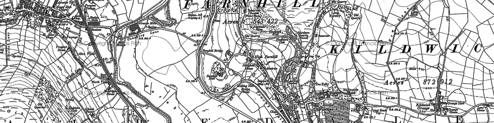 Old map of Aire View in 1889
