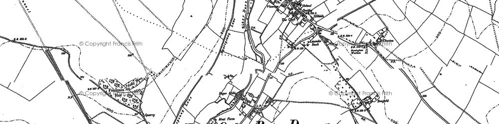 Old map of Farningham in 1895