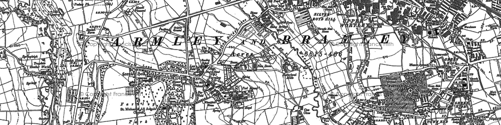 Old map of Acres Hall in 1847