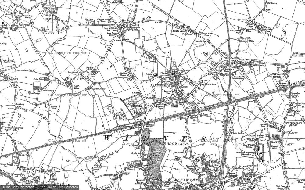 Old Map of Farnworth, 1891 in 1891