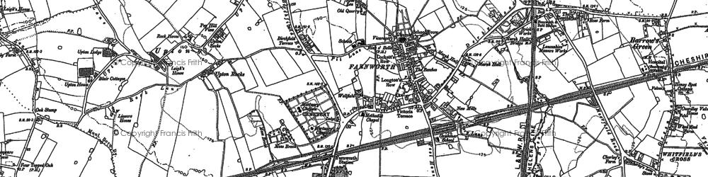 Old map of Appleton in 1891