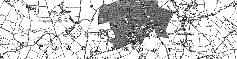 Old map of Windmill Hill in 1888