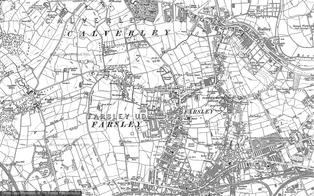 Old Map of Historic Map covering Woodhall Hills in 1847