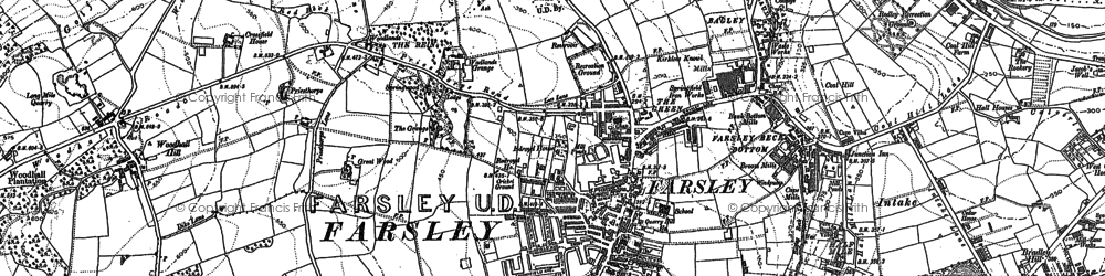 Old map of Woodhall Hills in 1847