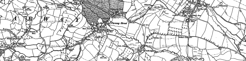 Old map of Ball Hill in 1888