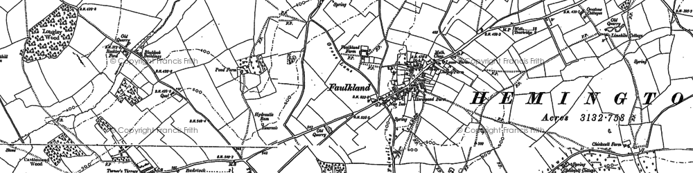 Old map of Faulkland in 1884