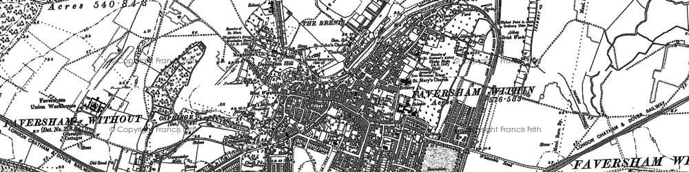 Old map of Westwood Court in 1896