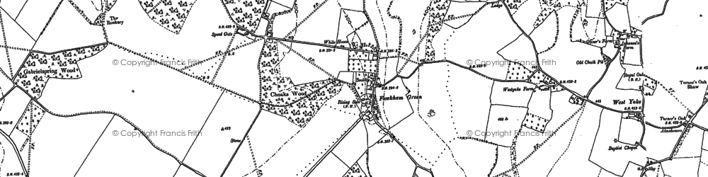 Old map of Fawkham Green in 1895