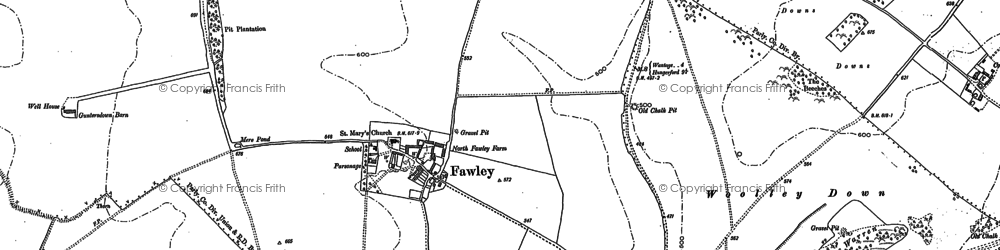 Old map of Woolley Down in 1898