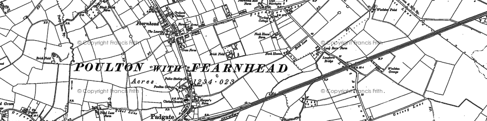 Old map of Grange in 1905