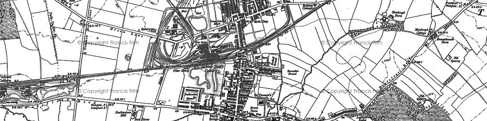 Old map of Featherstone in 1890